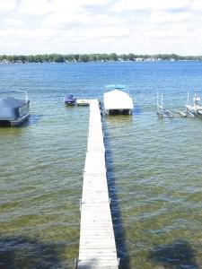 Boat dock, jet ski