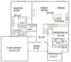 5564 Seney Circle Ranch Floor Plan
