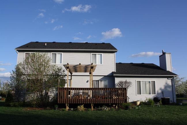 backyard and spacious deck of 5731 amber way