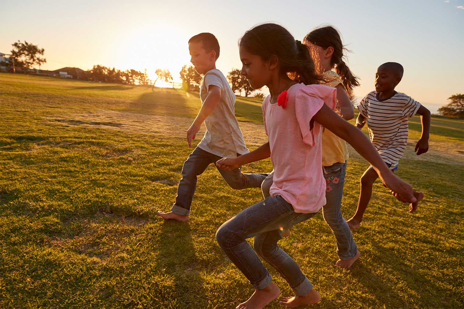 children playing in lodi township, a best ann arbor commuter town