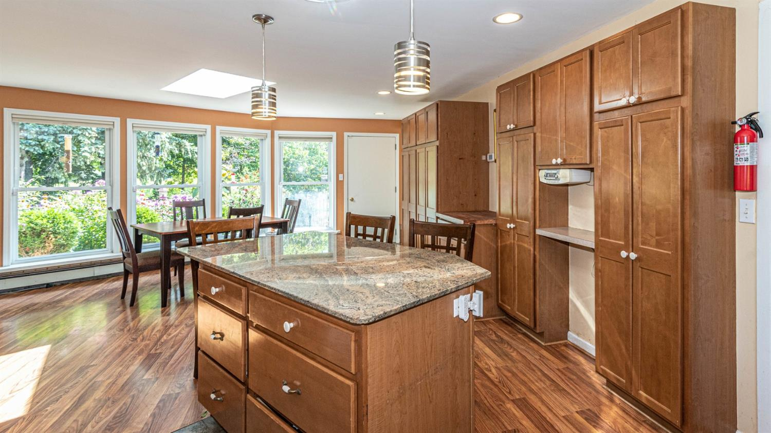 gorgeous kitchen at 8220 n warner rd, a saline country home